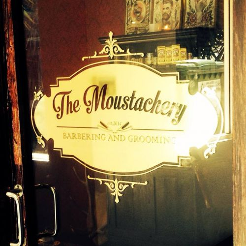 The Moustachery Logo and Images