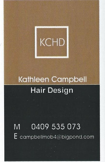 Kathleen Campbell Hair Design Logo and Images