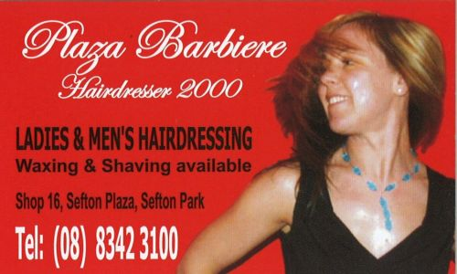 Plaza Barbiere Hairdresser 2000 Logo and Images