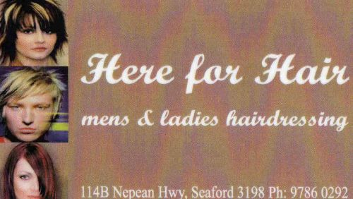 Here For Hair Logo and Images