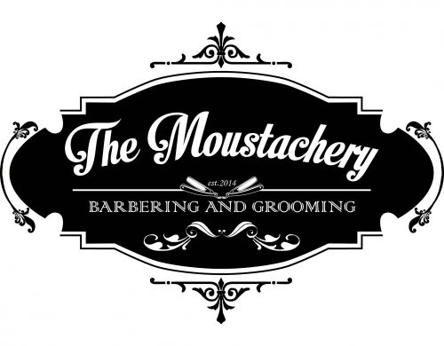 The Moustachery Barbering and Grooming Logo and Images