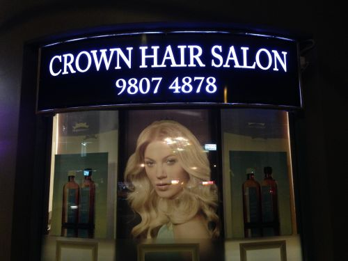 Crown Hair Salon WR Logo and Images