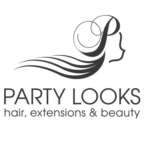 Party Looks Hair Extensions Logo and Images