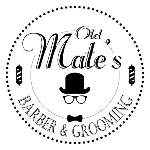 Old Mate's Barber and Grooming Logo and Images