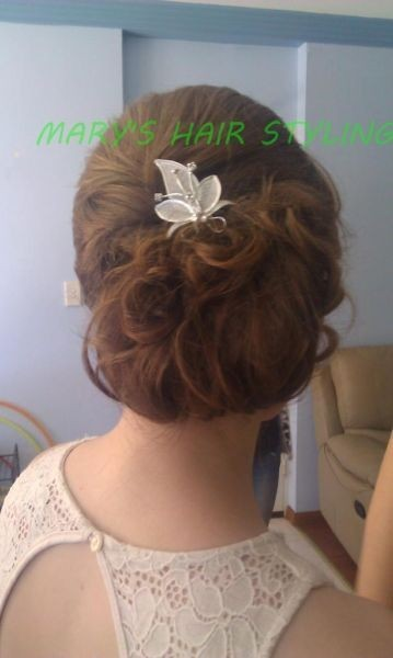 Mary's Hair and Makeup Service Logo and Images