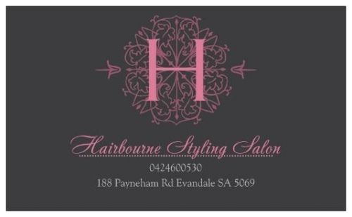 HairBourne styling salon Logo and Images