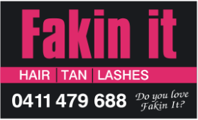 FAKIN it Hair - Tan - Lashes Logo and Images
