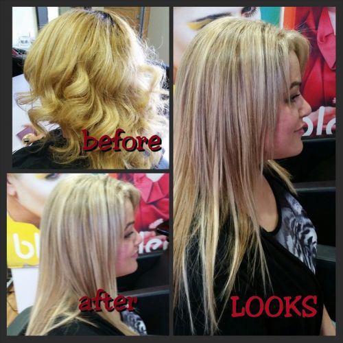 Looks Hair and Beauty by Neeta Logo and Images