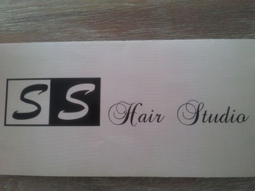 SS HAIRSTUDIO Logo and Images