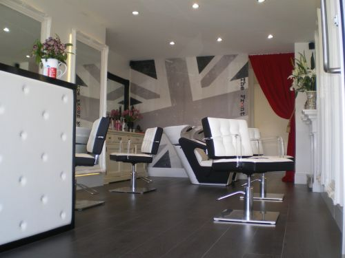 The Front Room Hairdressing Studio Logo and Images