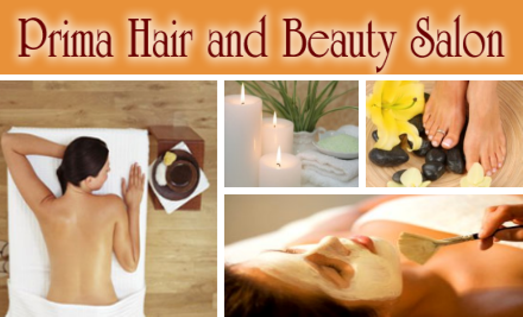 Prima Hair and Beauty Logo and Images