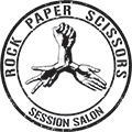Rock Paper Scissors Hair Studio Logo and Images