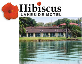 Hibiscus Lakeside Motel Logo and Images