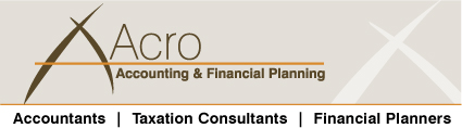 Acro Accounting & Financial Planning Logo and Images