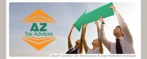 AZ Tax Advisors Logo and Images