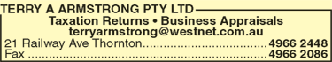 Terry A Armstrong Pty Ltd