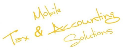 Mobile Tax & Accounting Solutions Logo and Images