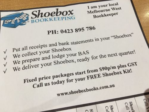 Shoebox Bookkeeping Logo and Images