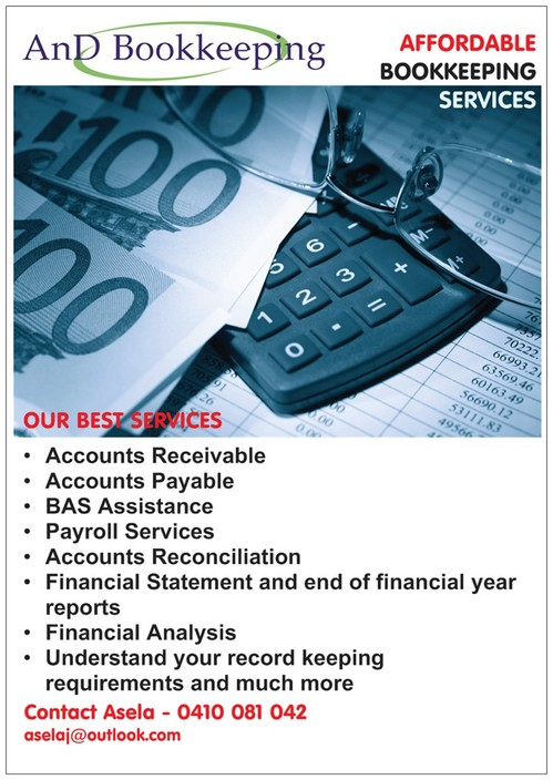 AnD Bookkeeping Logo and Images