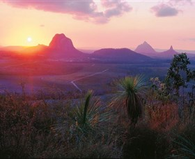 Glass House Mountains National Park Logo and Images