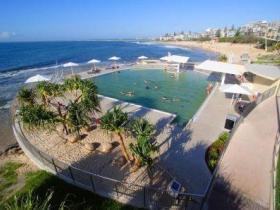 Kings Beach - Beachfront Salt Water Pool Logo and Images