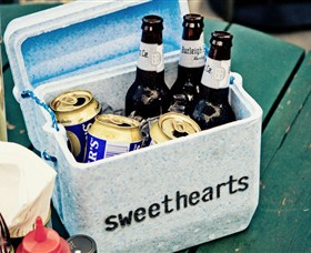Sweetheart's Rooftop Barbecue Logo and Images