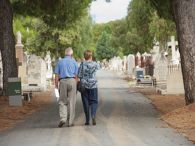 Heritage Highlights Interpretive Trail - West Terrace Cemetery Image