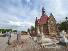 Beliefs Attitudes and Customs Interpretive Trail - West Terrace Cemetery Image