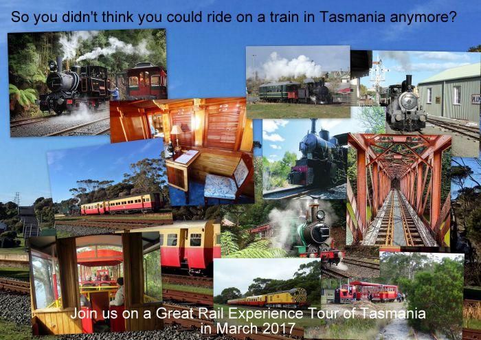 Great Rail Experiences  Tasmania Tour 2017