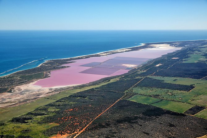 Pink Lake & Abrolhos Island Flyover Logo and Images
