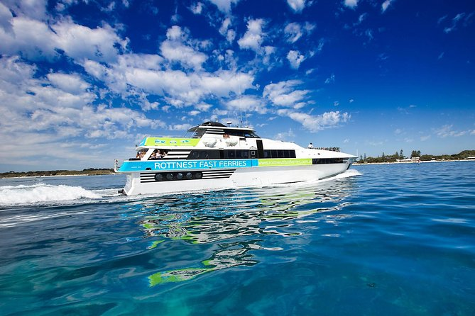 Rottnest Island Roundtrip Fast Ferry from Hillarys Boat Harbour Logo and Images