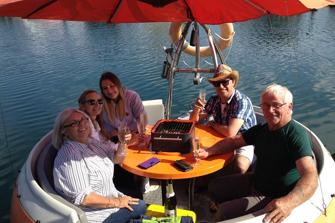 Self-Drive BBQ Boat Hire Mandurah - Group of 3 - 6 people Logo and Images