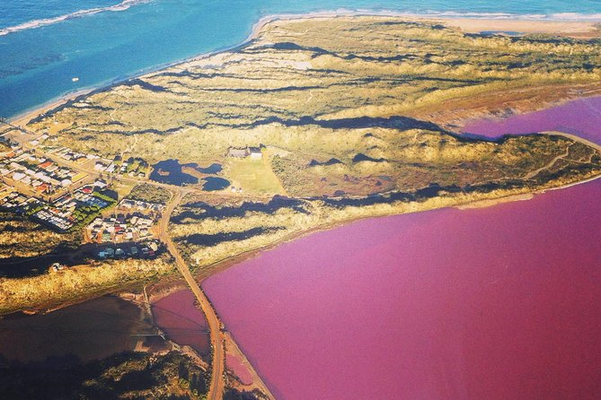 70-minute Pink Lake and Port Gregory Scenic Flight From Geraldton Logo and Images