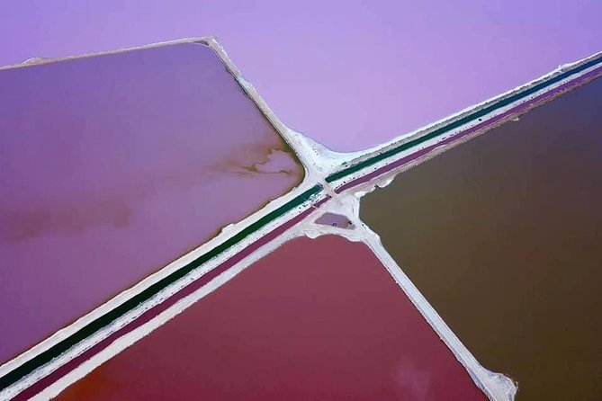 Pink Lake Aerial Flyover from Geraldton Logo and Images