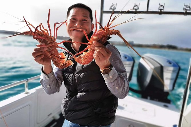 Premium live lobster tours presented Sashimi or BBQ style Logo and Images