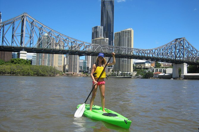 Brisbane River Stand-Up Paddleboarding Logo and Images