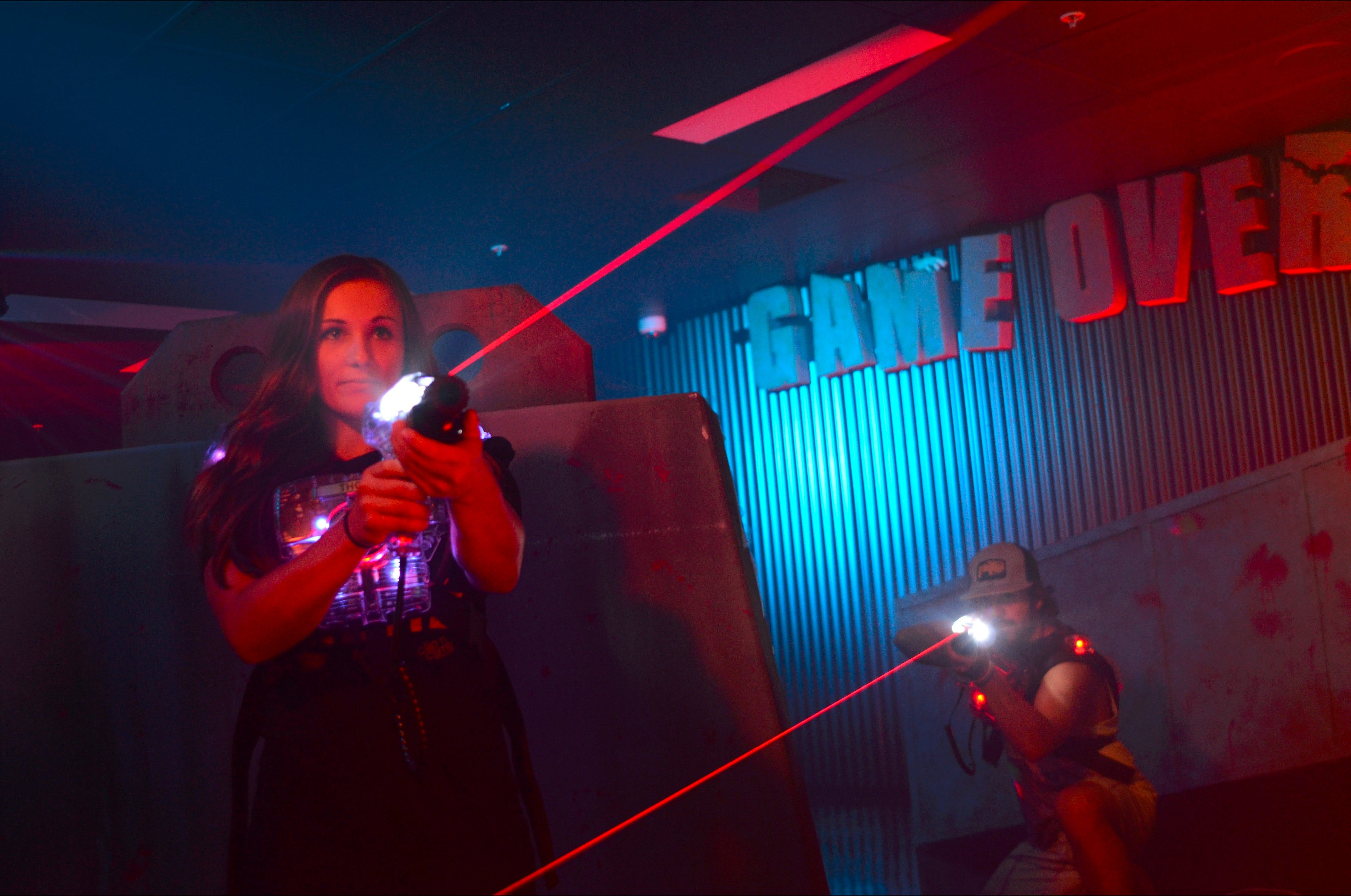 Game Over Indoor Go Karting, Adventure Climbing Walls and Lazer Tag Centre Logo and Images