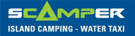 Scamper - Whitsunday Island Camping Connection Logo and Images