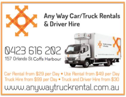 Anyway Car/Truck Rentals & Driver Hire