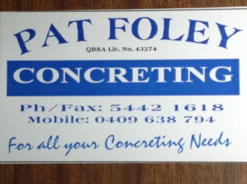Pat Foley Concreting
