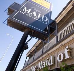 Maid of Auckland Hotel Logo and Images