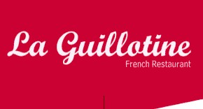 La Guillotine French Restaurant Logo and Images