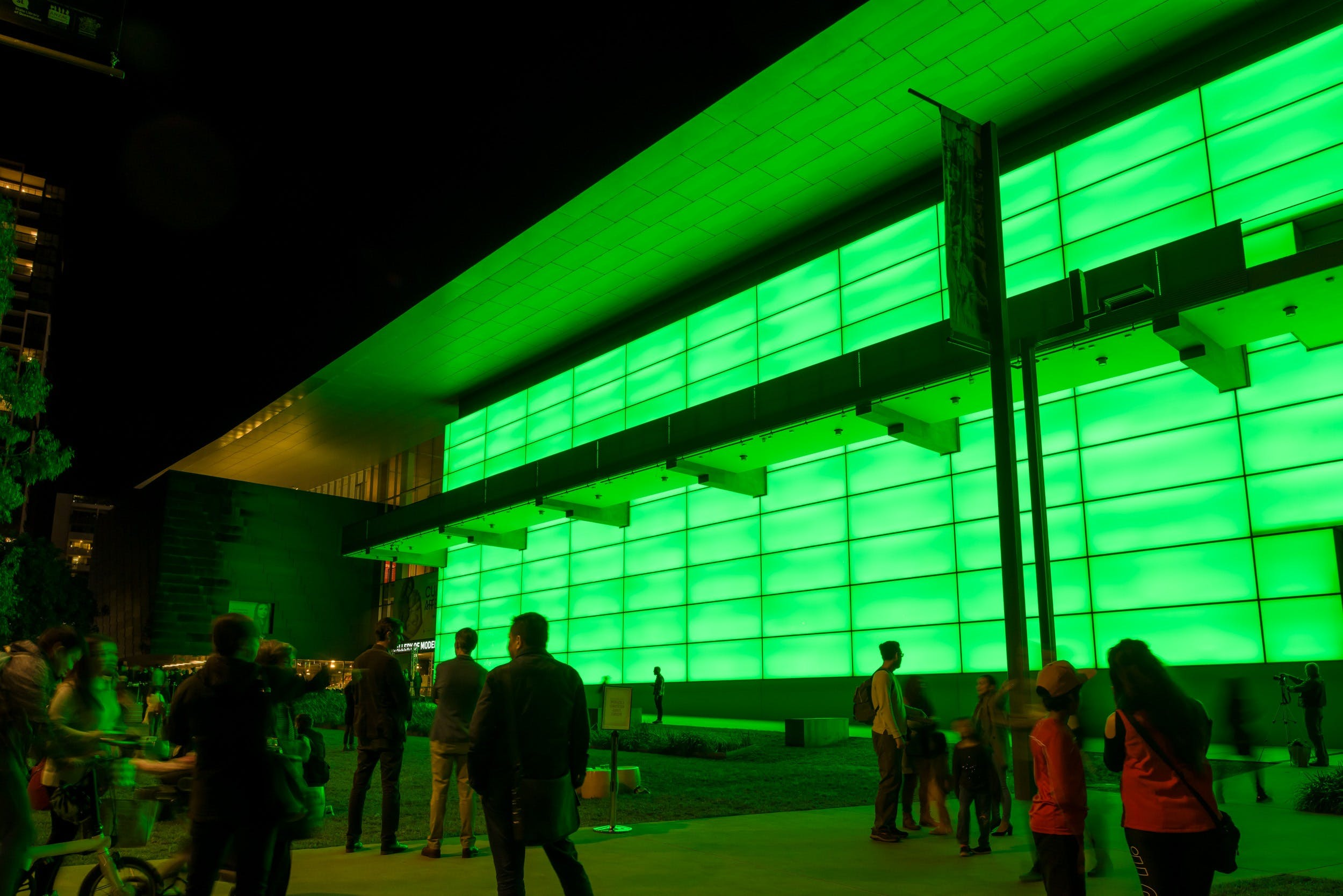 James Turrell's Night Life Logo and Images