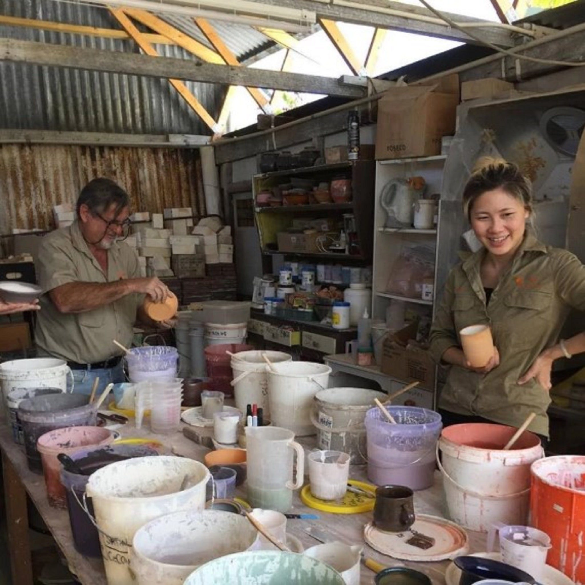 Introductory Pottery Glazing Class Logo and Images