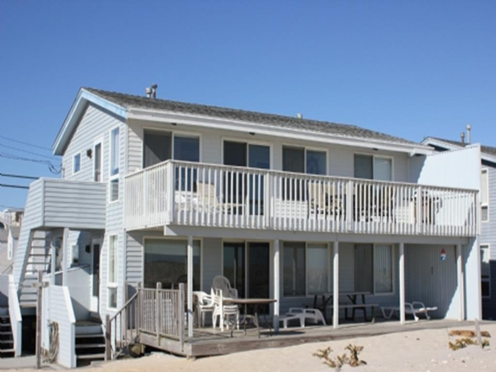 Brant Beach Oceanfront 2nd floor duplex pet friendly with extraordinary Ocean views from large deck 131410