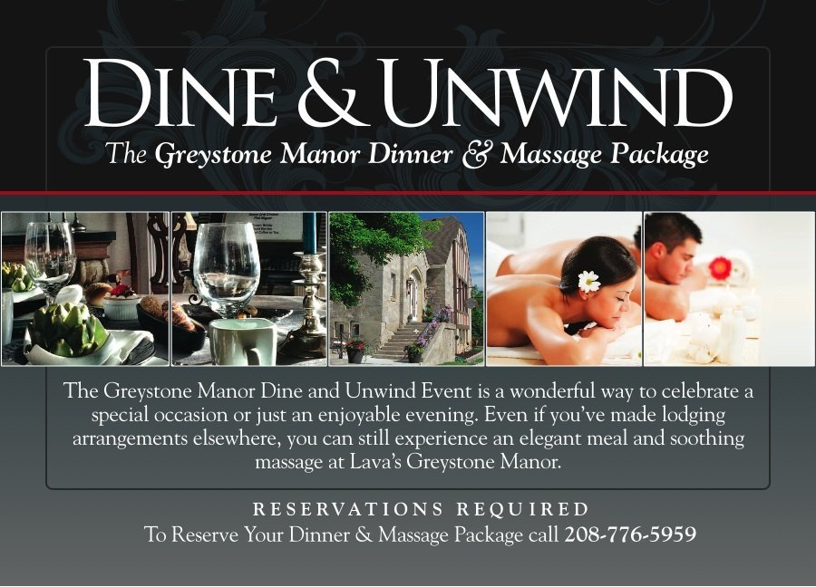Greystone Manor Dine and Unwind