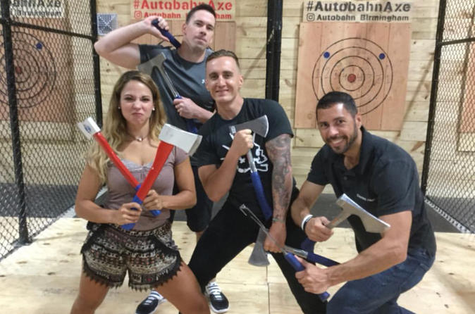 2 hours of Axe Throwing bliss!