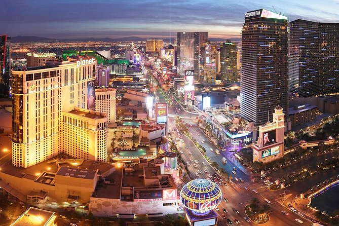 Vegas Night Out: Helicopter Tour and Show Package