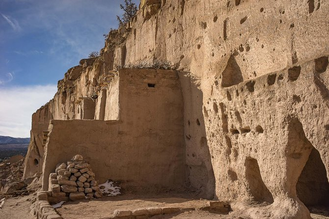 Puye Cliff Dwellings, Chimayo church, Ortega's Weaving + Lunch